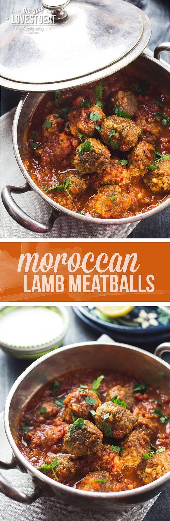 Moroccan Lamb Meatballs { thegirllovestoeat.com }