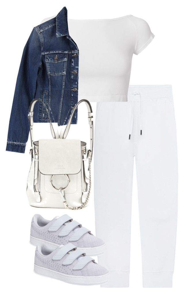"""Untitled #4437"" by theeuropeancloset on Polyvore featuring Dsquared2, Puma, Helmut Lang, Paige Denim and Chloé"