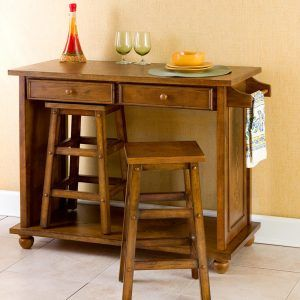 Portable Kitchen Island With Seating For 2