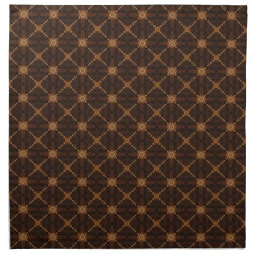 Latticework And Squares On Brown Tiles