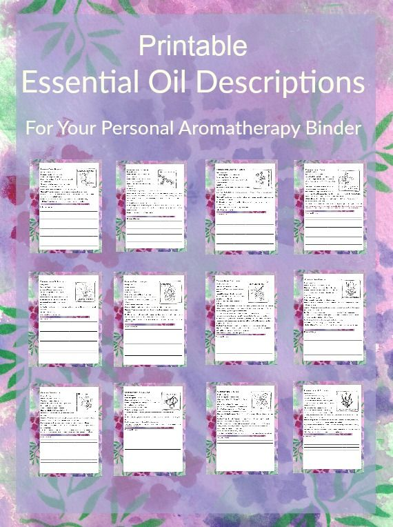 Printable Essential Oil Descriptions For Your Aromatherapy