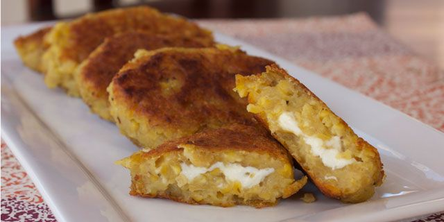 Green Plantain and Cheese Patties (Empanadas de Verde) - needs some substitutions, but a great starting point!