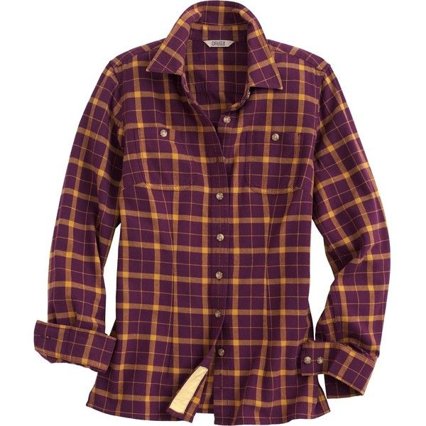 Women's Free Swingin' Flannel Shirt - Duluth Trading ($45) ❤ liked on Polyvore featuring duluth pack