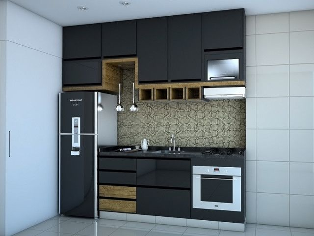 +1000 imagens sobre Decoração de Interiores no Pinterest  Mesas, Madeira e Q # Cozinha Compacta Para Apartamento