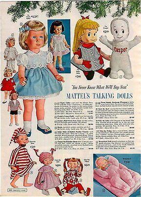 1961 ADVERTISEMENT Doll Mattel Chatty Cathy Casper Ghost Polly Lolly Zack Sack | Collectibles, Advertising, Merchandise & Memorabilia | eBay!