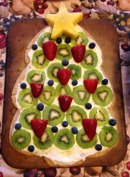 New Fruit Pizza Christmas Tree 22 Ideas fruit Fruit