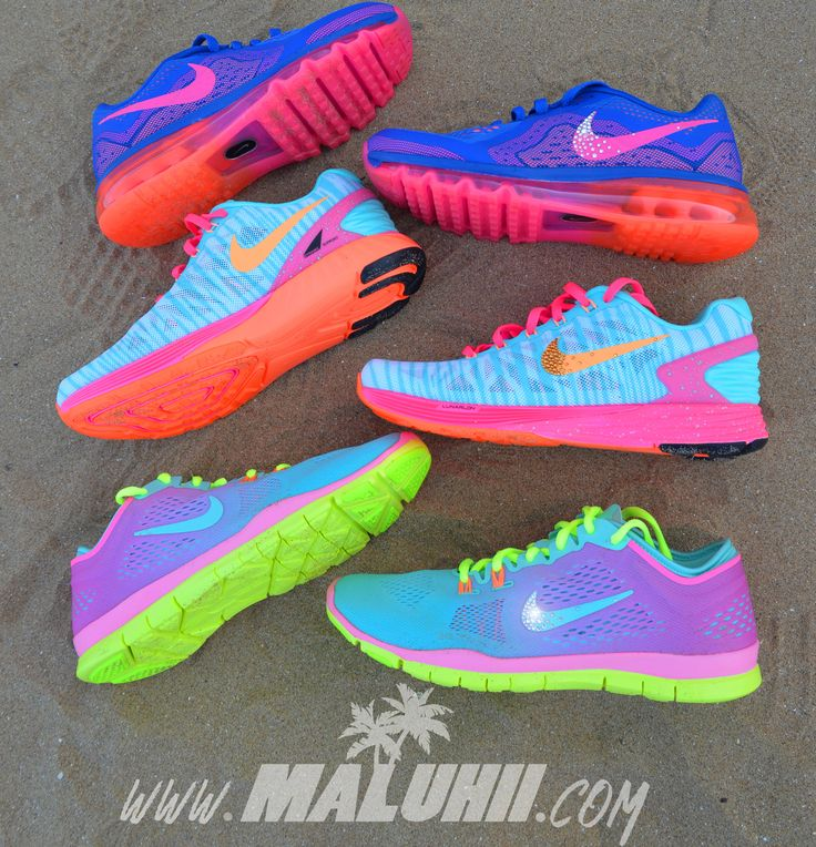 Bright Neon Running Shoes