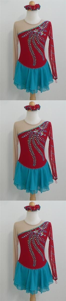 Skating Dresses-Girls 21226: Kim Competition Ice Skating Dress Dance Child 10 -> BUY IT NOW ONLY: $78.0 on eBay!