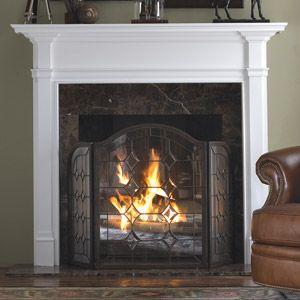 hampton custom poplar wood fireplace mantel surround