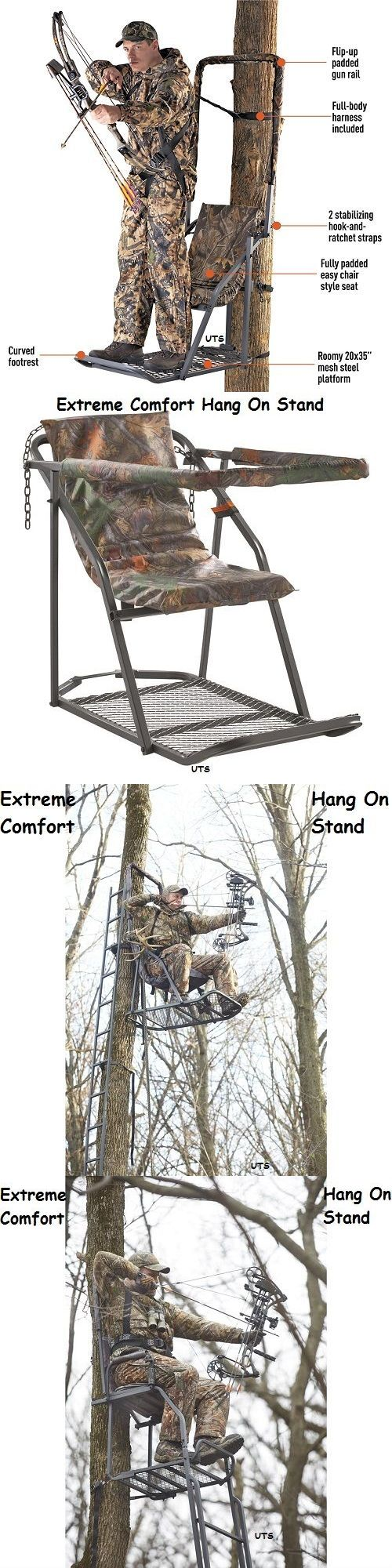 Tree Stands 52508: Tree Stand Extreme Comfort Hang On Treestand Deer Hog Hunting Supplies Bow Gun -> BUY IT NOW ONLY: $99.87 on eBay!