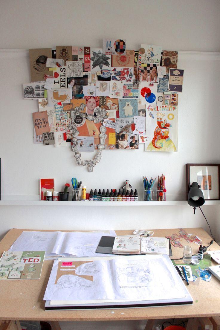 Leila Rudge's home studio. The Novocastrian Files. Photo - Siobhan Curran
