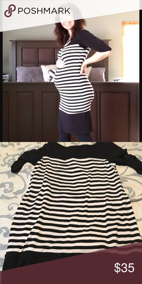 Loveappella striped maternity dress. Loveappella black & white striped maternity dress in EUC. Very flattering and comfortable. Loveappella Dresses
