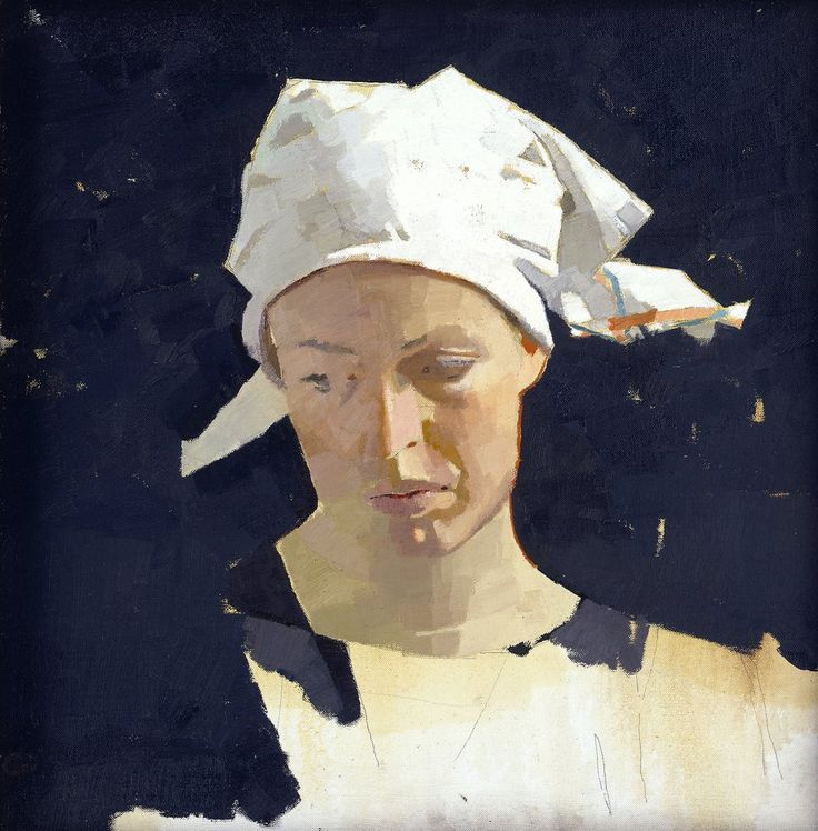 Disarmingly simple. Love how the planes of her face have been painted. DIARMUID KELLEY