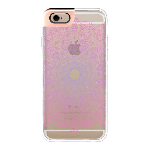 Lace Mandala - Pink and Purple - iPhone 7 Case, iPhone 7 Plus Case,... (£39) ❤ liked on Polyvore featuring accessories, tech accessories, iphone case, iphone cases, apple iphone cases, pink iphone case, clear iphone cases and purple iphone case