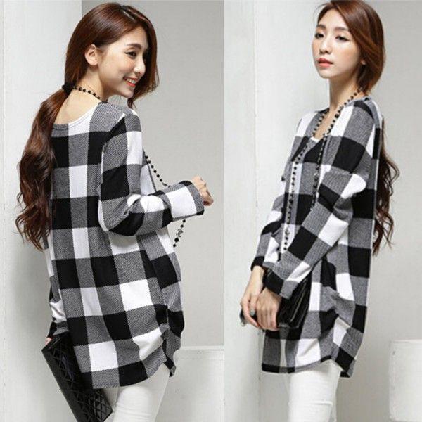 Купить товарСтильный беременным топы женщин плед шаблон свободного покроя мягкий LongPregnant блузка в категории Блузки и рубашкина AliExpress.             100% новый и высокое качество                             Цвет: Черный Пледы                             Мат