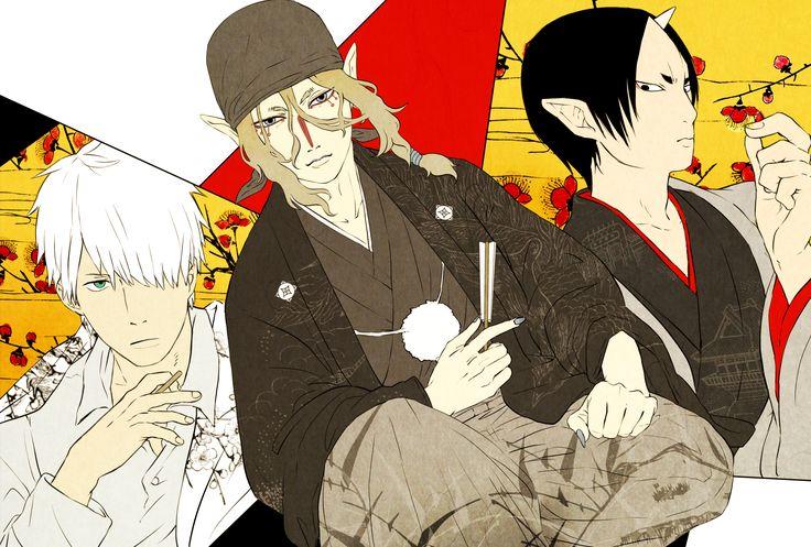 Mushishi x Mononoke x Hoozuki no Reitetsu