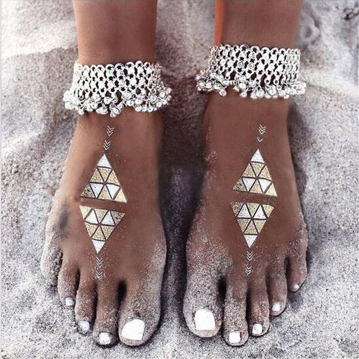 Silver Boho Bohemia Women Sandal Ankle Chain Bell Anklet Beach Accessories Beachwear Foot Bracelet Gypsy Jewelry  Price: 9.95 & FREE Shipping  #beachwear #bodyjewelry #beachjewelry
