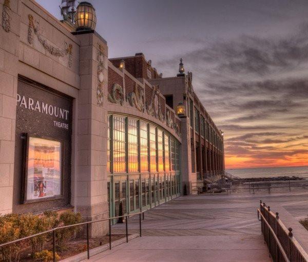 Asbury Park Paramount Theater Sunrise artwork - Bill McKim artwork Photography Jersey shore wallart