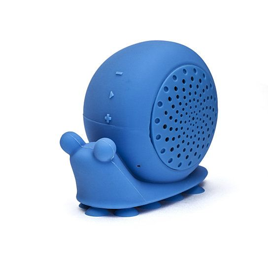 """HOW DOES IT WORK?  All Speaker Creatures have the same controls.     If everything is blue for you, then the blue snail shower speaker is the perfect fit to go along with your blue house, with the blue little window, and your blue Corvette. Hop in the shower and sing along """" I'm blue da ba dee dabba da-ee""""! """"I love a sexy pair of heel with jeans, a nice jacket, or a little nice dress.""""  Favorite Music: Pop & R&B  Likes: Glitter, hai..."""