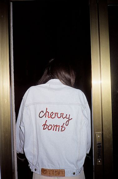 Your ch-ch-ch-ch-cherry bomb. My fave karaoke jam! #campcollection #denimeverything