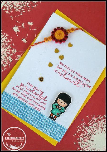 HappyMomentzz crafting by Sharada Dilip: Rakhi cards at HappyMomentzz / mama elephant in my heart stamp set