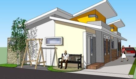 desain rumah kontrakan 1 kamar