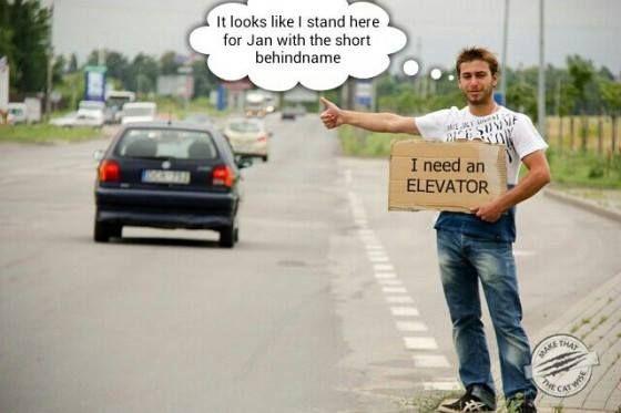 """I need an elevator"" #MTTCW"