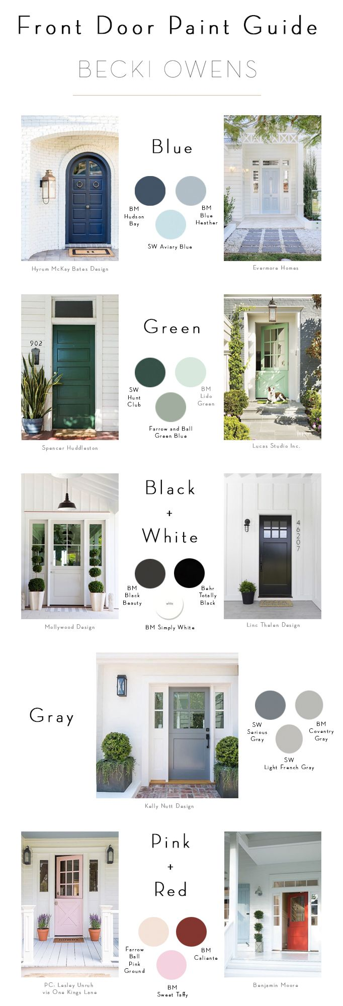 BECKI OWENS- Spring Curb Appeal: Painted Front Doors + Paint Guide
