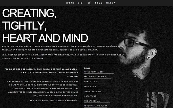 Carlos Molina 15 June 2013 http://www.awwwards.com/web-design-awards/carlos-molina-1#webdesign #inspiration #UI #Minimal #jQuery #Wordpress #Responsive Design #HTML5 #Parallax #Black #Silver #White