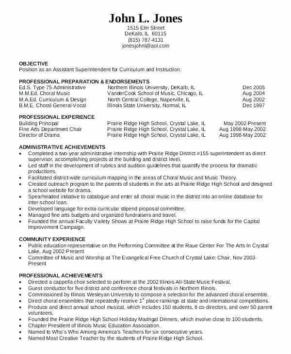 Best Of Principle Resume Resume And Vice Principal Assistant Education Resume Teacher Resume Template Resume Template