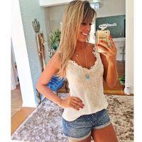 Mel moda novidade v-neck lace branco para blusa roupas folgadas das mulheres