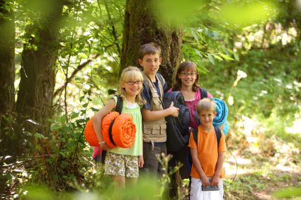 A camping trip can be a great way to teach your kids some basic survival and safety tips