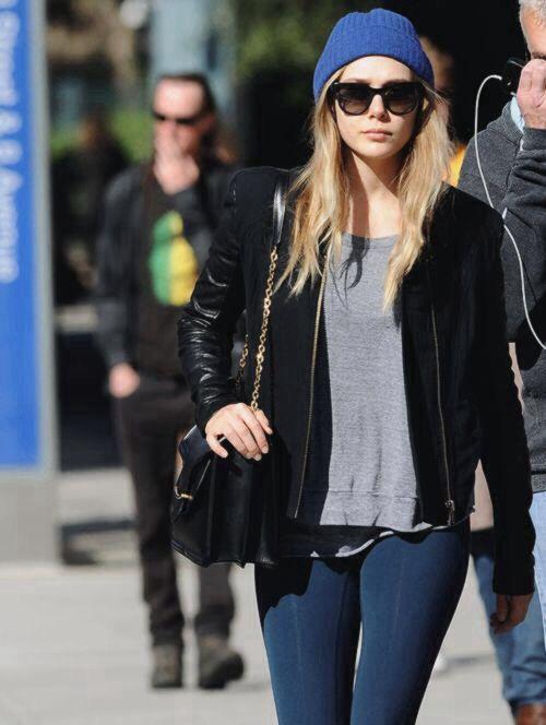 Elizabeth Olsen street style