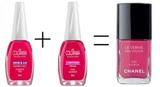 Misturinha para Chanel Gamour Pink Colorama + Puro Glamour Colorama = Pulsion Chanel