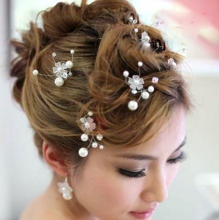 #TideBuy - #TideBuy Luxurious Wedding Accessories Handwork Pearl Bride Hairpin - AdoreWe.com