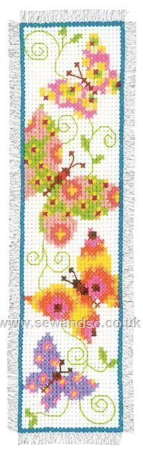 Buy Butterflies Flapping I Bookmark Cross Stitch Kit Online at www.sewandso.co.uk