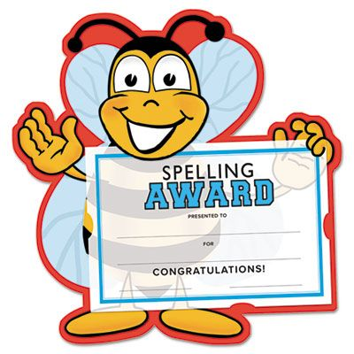 Spelling Bee Certificate Award Kit And Holder 8 5 X 5 5 10 Pk