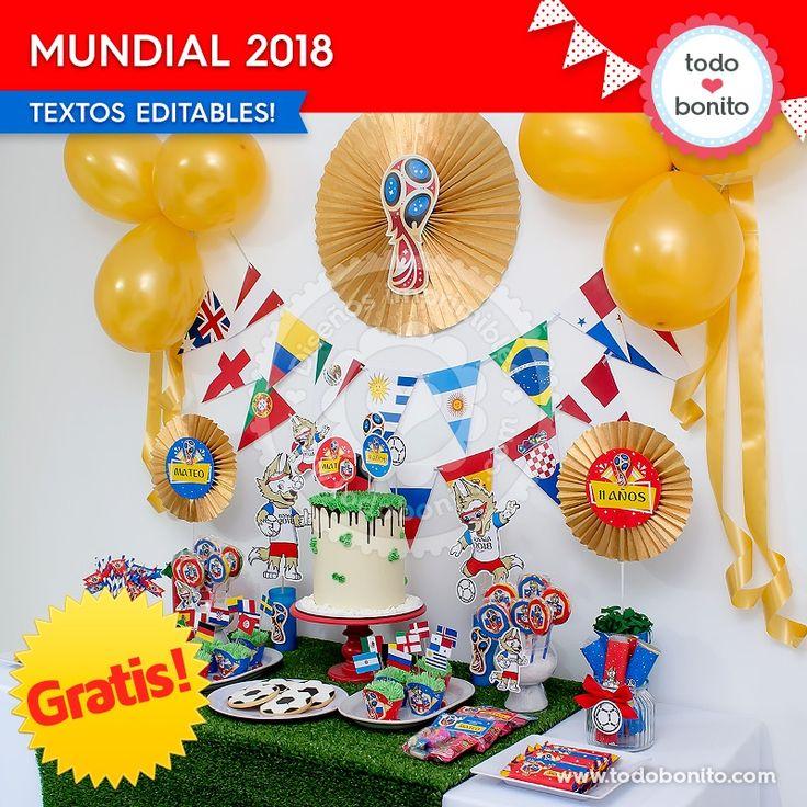 *GRATIS * Kit imprimible Mundial 2018 - Todo Bonito