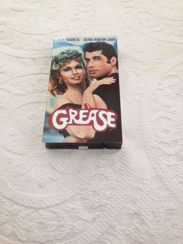 Grease Broadway Musical VHS Video 1990 John Travolta Olivia Newton John PG 1977