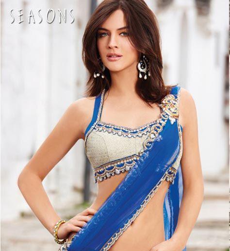 Thin strap saree blouse