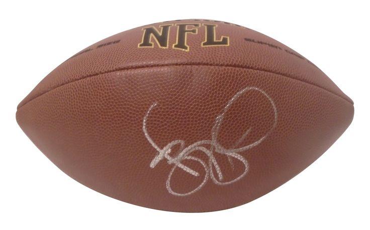 Jerome Bettis Autographed NFL Wilson Football, Proof Photo