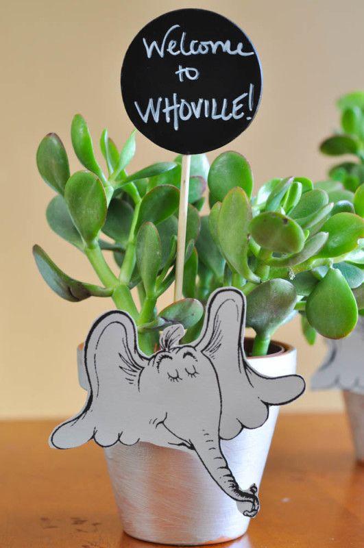 Dr. Seuss Is In The Garden - Horton Hears A Who Flower Pots - Suburble.com: Cotillion Horton, Seuss S Horton, Flower Pots, Gardens, Horton Flower, Dr. Seuss, Baby Horton