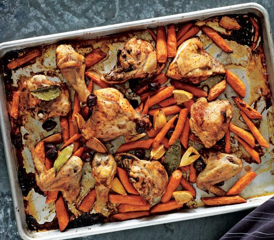 Roasted Chicken and Carrots With Olives and Lemons food Great Food yummy