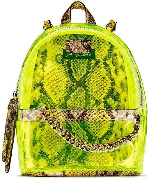 5a1dd85cd Victoria's Secret Victorias Secret Neon Python Small City Backpack ...