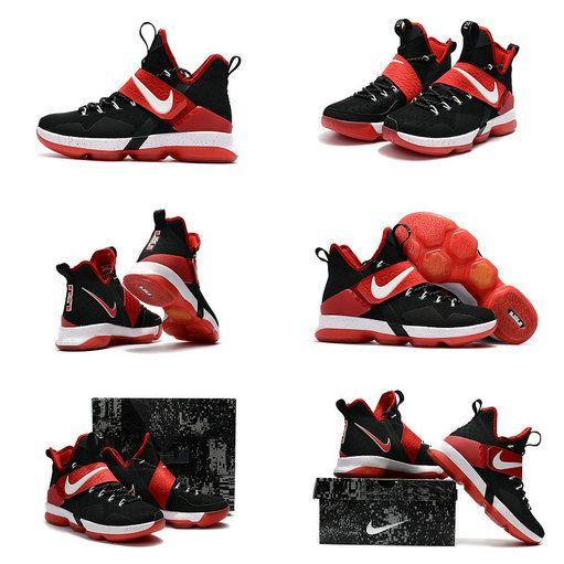 innovative design afbfe 212fa Latest LBJ Sneakers Cheap Size US 7 7.5 9 10.5 13 LeBron 14 XIV Bred Black