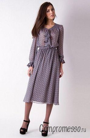вечерние шифоновые платья с длинным рукавом фото