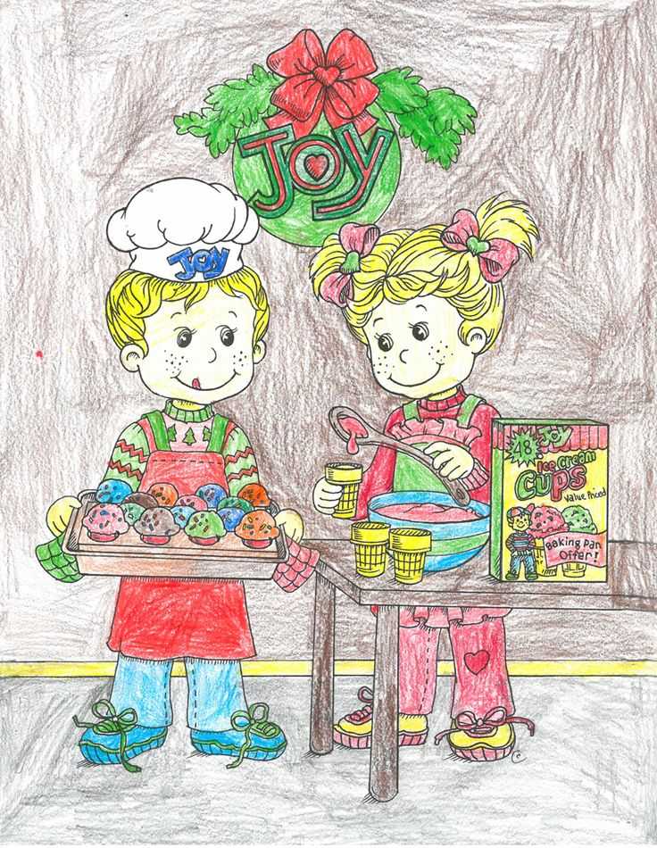 Joy Coloring Sweepstakes entry from Luke age 8 from MN! #bringJOYhome #coloring #icecreamcones #holidays
