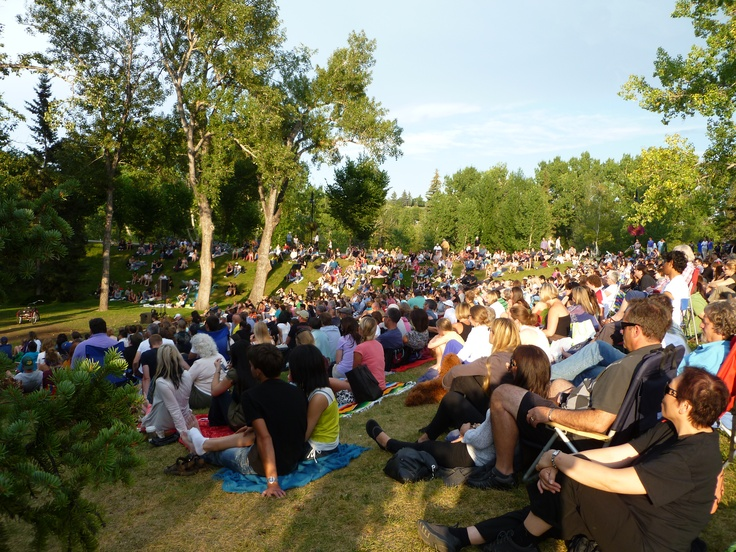 A perfect way to watch Shakespeare. The audience of Shakespeare in the Park in Calgary 2012.