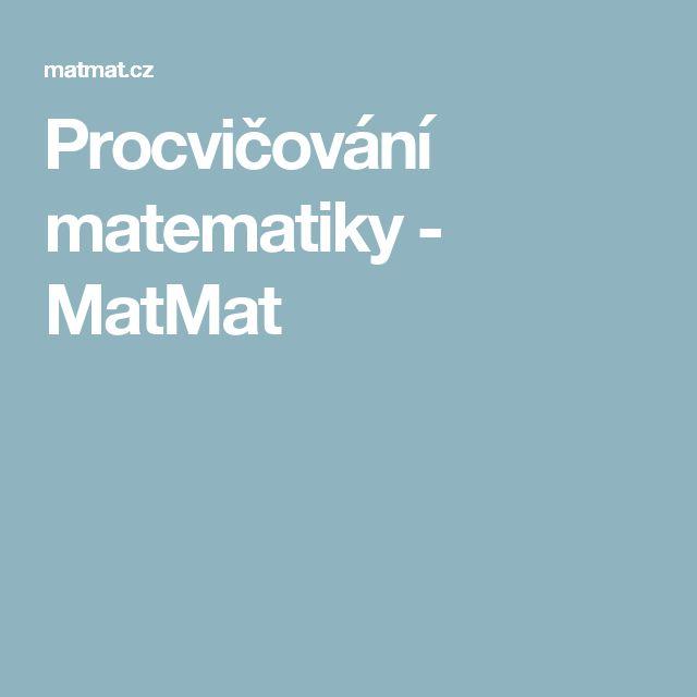 Procvičování matematiky - MatMat
