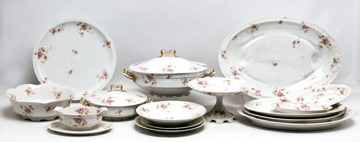 Vajilla de porcelana francesa de limoges con marcas de for Marcas de vajillas de porcelana